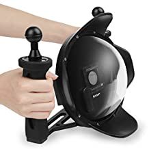 SHOOT Upgraded 3.0 Version 6'' inch Diving Underwater Handheld Stabilizer Lens Hood Dome Lens Dome Port for Gopro Hero 3+/4 Black Silver Camera Underwater Photography
