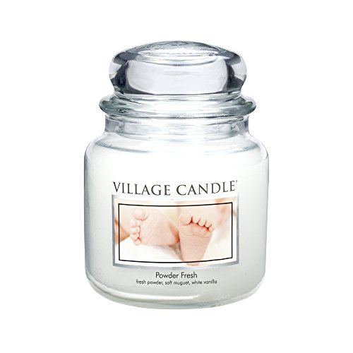 - Village Candle Powder Fresh 16 oz Glass Jar Scented Candle, Medium