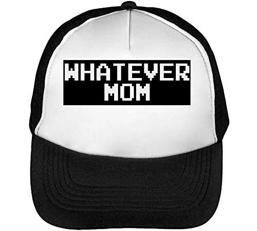 Whatever Mom Funny Slogan Gorras Hombre Snapback Beisbol Negro Blanco