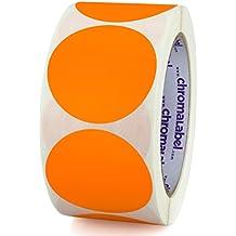 ChromaLabel 2 inch Color-Code Dot Labels   500/Roll (Orange)