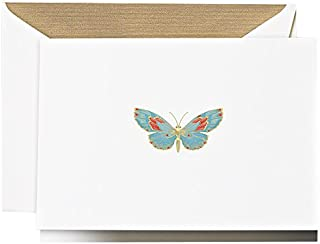 product image for Crane & Co. Engraved Butterfly Note (CF1523)