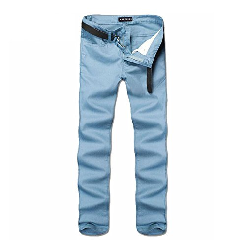 vazpue-pants-mens-fashion-elastic-straight-skinny-trousers-casual-fitted-pants-korean-style-451-ligh