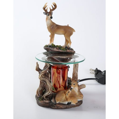 Compare Price Electric Candle Warmer Deer On