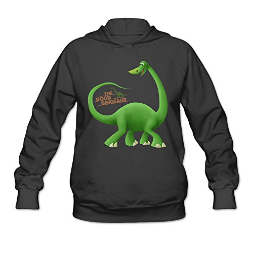 DVPHQ Women's Good Dinosaur Poster Hoodies Size S Black