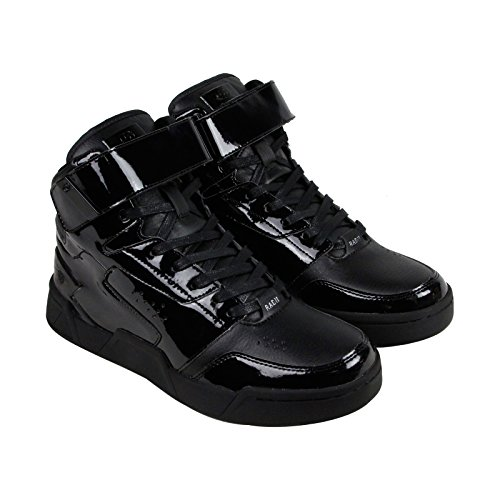 Radii Segment Mens Black Patent Leather High Top Lace Up Sneakers Shoes 9.5