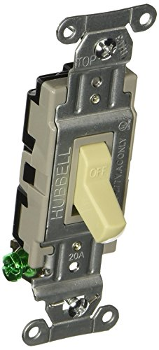 Hubbell CS120I Commercial Switch, Ivory Single Item