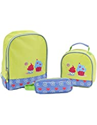 Aquarella Kids 3 Piece Back to School Set, Cupcakes
