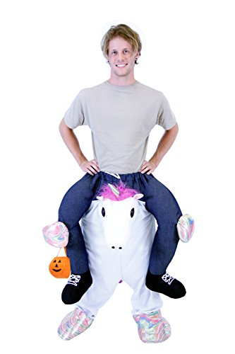 Creative Halloween Costumes For Teenagers (Costume Agent Men's Piggyback Unicorn Ride-On Costume, Unicorn,)