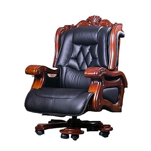 EEGUAI Boss Chair Business Home Office Chair Reclining Massage Computer Chair Leather Boss Chair Swivel Chair Executive Chair
