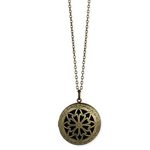 Essential Burnished Diffuser Locket Necklace