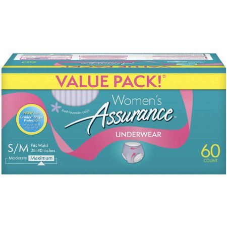 Assurance for Women Maximum Absorbency Protective Underwear, Small/Medium, 60 ct (60 Count) - Maximum Protective Underwear