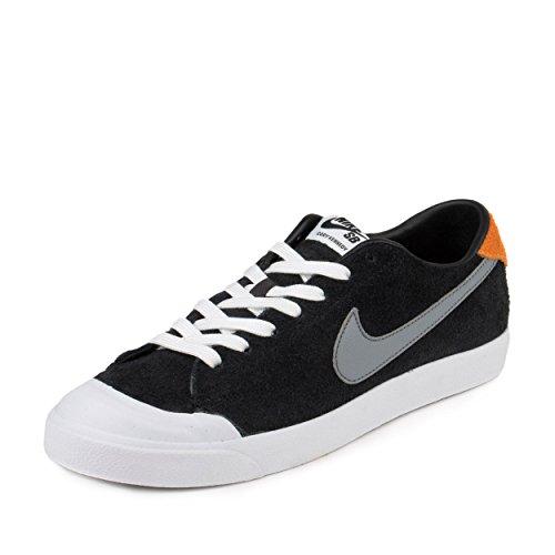 da14108e259ab Galleon - Nike Mens Zoom All Court CK Black Cool Grey-Vivid Orange Suede  Size 10