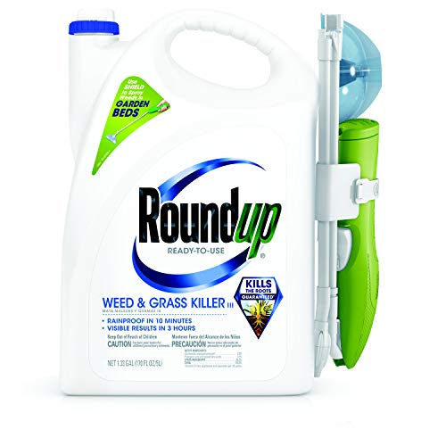 Roundup Ready-To-Use Weed & Grass Killer Sure Shot Wand, 1.33 Gal (Best Weed Spray For Flower Beds)