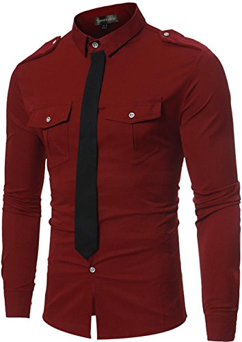 Down Shirts Tops Long winered Casual Sportides Jza120 Jza102 Button Check Herren Chemises Sleeve Plaid pzx04