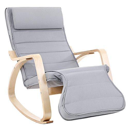 Songmics Fauteuil A Bascule Rocking Chair Avec Repose Pied