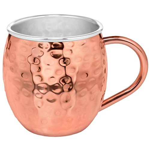 Set of 2 Moscow Mule Copper Mugs with Stainless-Steel Lining | Set of 2 Moscow Mule Mugs with Copper Shot Glass | Set of 2 Mule Mugs Lined with Stainless-Steel, Mint Julep Mugs for Home Bar by Urban Vintage LA (Image #1)