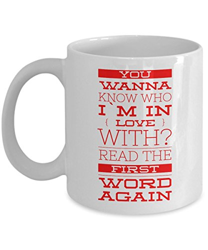 Unique Coffee Mug - I`m In Love With You - Amazing Present Idea For Him or Her - Great Quality Ceramic Cups For Coffee, Tea, Milk & More - 11oz