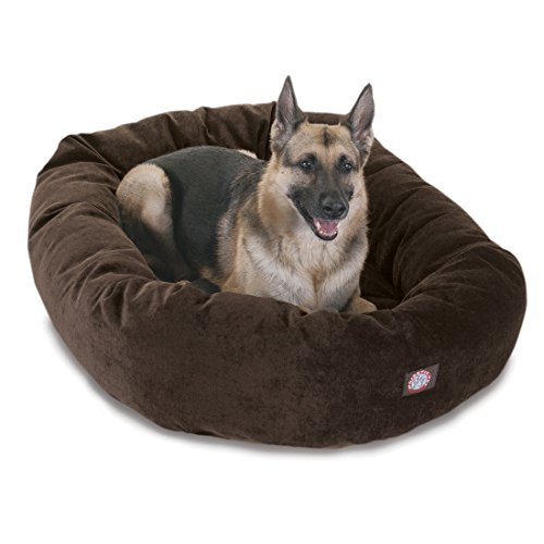 Bed Bagel 52 (52 inch Storm Villa Collection Micro Velvet Bagel Dog Bed By Majestic Pet Products)