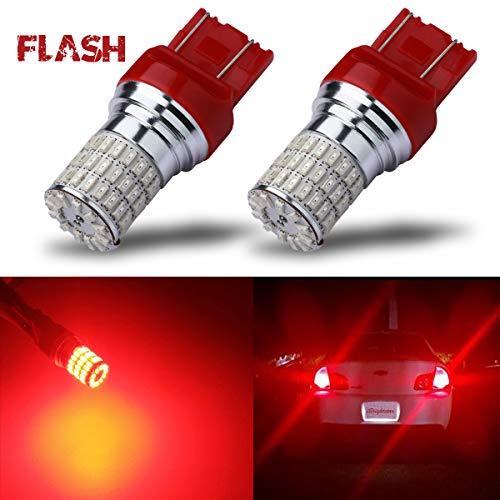 iBrightstar Newest 9-30V Flashing Strobe Blinking Brake Lights 7440 7443 T20 LED Bulbs replacement for Tail Brake Stop Lights, Brilliant - Brake Impreza Subaru 2007