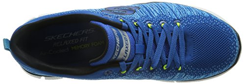 Skechers Equalizer 2.0 Perfect Game - Zapatillas Hombre Azul - Blue (Bllm - Blue Lime)