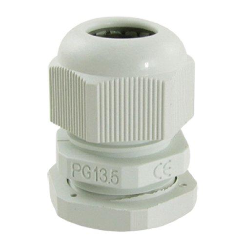 10 Pcs PG13.5 White Plastic Waterproof Connectors Cable Glands