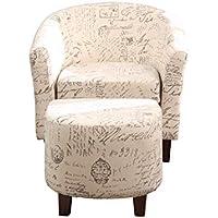 NHI Express 92008-16 Kaden Tub Chair with Ottoman, Multi