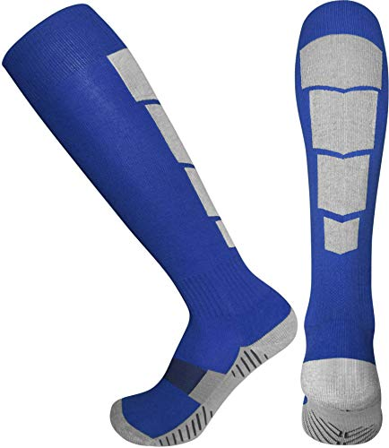 Elite Athletic Socks - Over The Calf - Blue (Small, Blue) - Navy Wrestling Arch