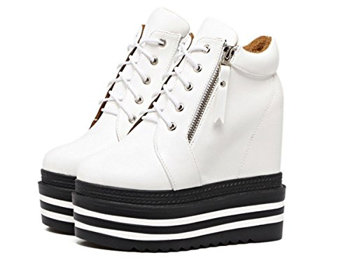 White Encaje Botas Único Plataforma Cuña Cortas Tacón Invierno Salvaje Gruesa Cómodo Hasta Nuevo Nvxie Mujeres Señoras eur38uk55 Nightclub 3 Cabeza Trabajo Inferior Eur La De Ronda Otoño Partido Zapatos w7yqXap1
