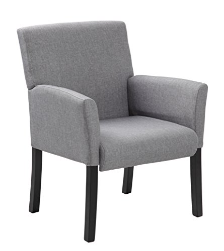 Boss Office Products Contemporary Guest Chair in Grey