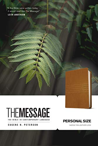 The Message Personal Size (Leather-Look, Saddle Tan): The Bible in Contemporary Language