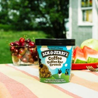 Ben & Jerrys - Vermonts Finest Ice Cream, Non-GMO - Fairtrade - Cage-Free Eggs - Caring Dairy - Responsibly Sourced Packaging, Coffee Toffee Bar Crunch, ...