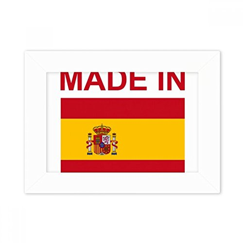 DIYthinker Made In Spain Country Love Desktop Photo Frame White Picture Art Painting 5x7 inch by DIYthinker
