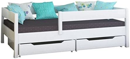 WNM Group Kinderbett, Miki Einzelbett mit Schubladen und Lattenrost 1