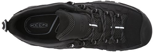 Keen Men's Targhee Exp Waterproof Low Rise Hiking Shoes, Black Black (Black/Steel Grey 0)