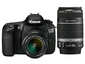 Canon EOS 60D - Cámara Réflex Digital 18 MP (Objetivo EF-S 18-55IS II + EF-S 55-250IS II)