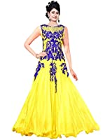 Sdfashions Women Georgette Dress Material (Sd-50014 _Yellow _42)