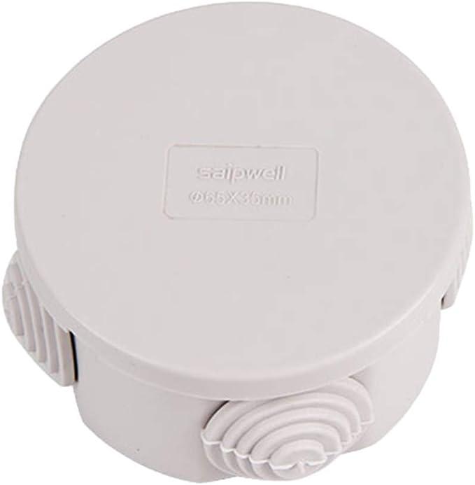 Tenlacum IP66 - Caja de Conexiones para Exteriores (Impermeable, 4 Orificios, 65 x 35 mm), Color Blanco: Amazon.es: Bricolaje y herramientas