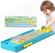 Frog Mini Bowling Game Board Game, Desktop Bowling Game Frog Bowling Toy Launcher Toy, Easy to Assemble and Play Intelligenc