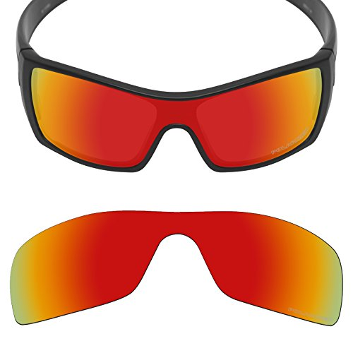 Mryok+ Polarized Replacement Lenses for Oakley Batwolf - Fire Red by Mryok