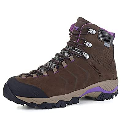 XPETI Women's Yellowstone Water-Resistant Leather Hiking Boots Brown Size: 6