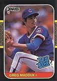 #8: 1987 Donruss Baseball #36 Greg Maddux Rookie Card