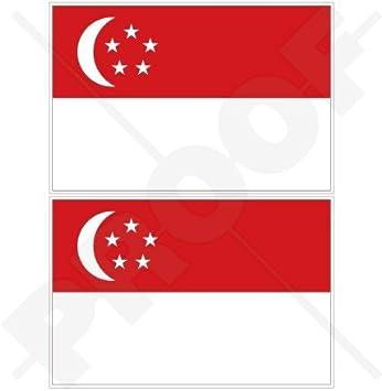 Singaporean Flag Sticker Decal Vinyl Singapore