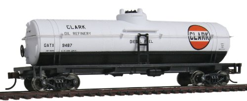 Ho Oil (Walthers Trainline 40' Tank Car - Ready to Run Clark Oil GATX 9487)