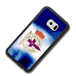 Deportivo Coruna FC Logo Samsung Galaxy S6 Edge Funda Case Anti Slip Vintage Pattern Hart Fall