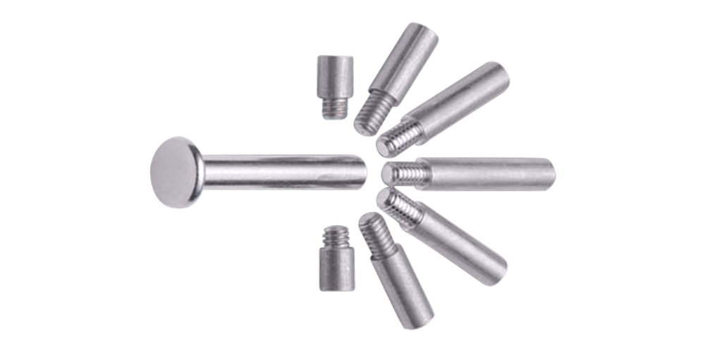 Charles Leonard Aluminum Screw Posts, 0.38 Inch Post Length, Silver, 100-Pack (3702L)