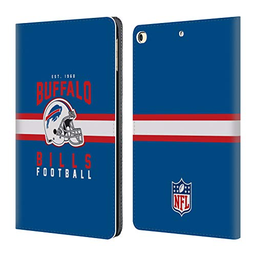 Credit Bills Card Buffalo (Official NFL Helmet Typography 2018/19 Buffalo Bills Leather Book Wallet Case Cover for iPad 9.7 2017 / iPad 9.7 2018)