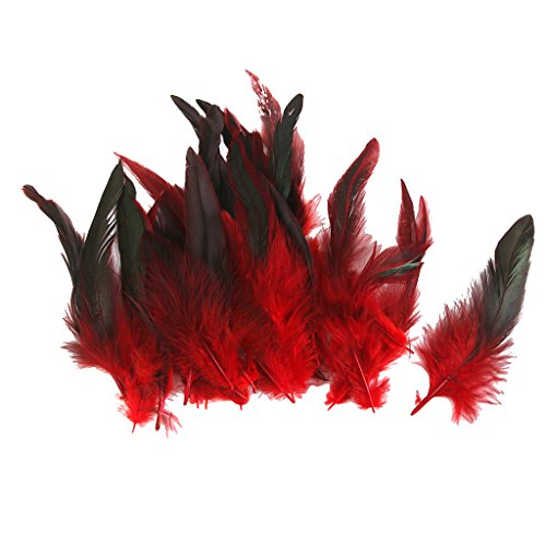 Wholesale 50 beautiful feathers 12-18cm / 4-7inch Red