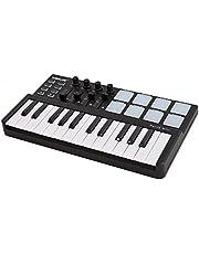 Kalaok Worlde Panda Mini Taşınabilir Mini 25 Tuşlu USB Klavye ve Drum Pad MIDI Kontrolör