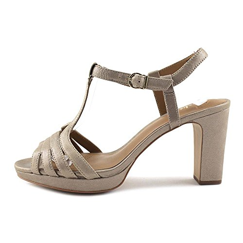 Metallic Ankle Jenness Sandal Leather Strap Clarks Night Champagne Women's qRffwp0