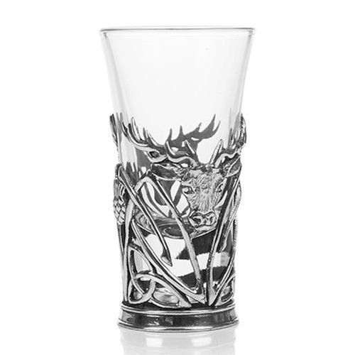 AE Williams Stunning Pewter Scottish Highland Stag Shot Tot Glass